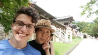 Getting silly with Seo Yeon in Gyeongju.
