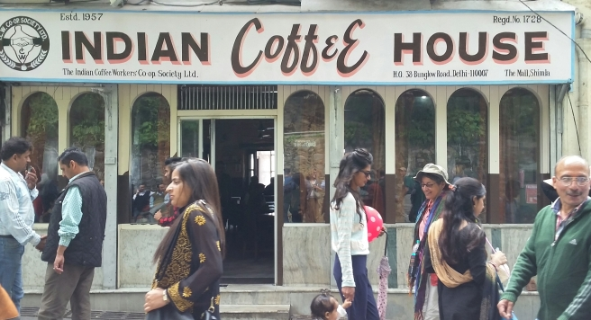 The Indian Coffee House, an amazing cafe with great food and coffee/tea at even better prices